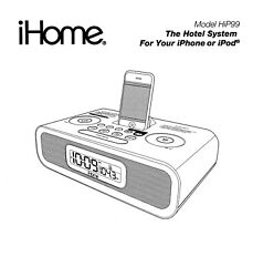 iHome for Hotels HiP99 Dock Alarm Clock Radio for iPhone, iPod NEW