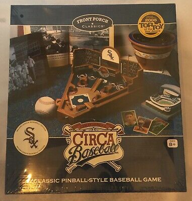 Front Porch Classics Circa Baseball Pinball Coffee Table Game Traditional Wooden ()