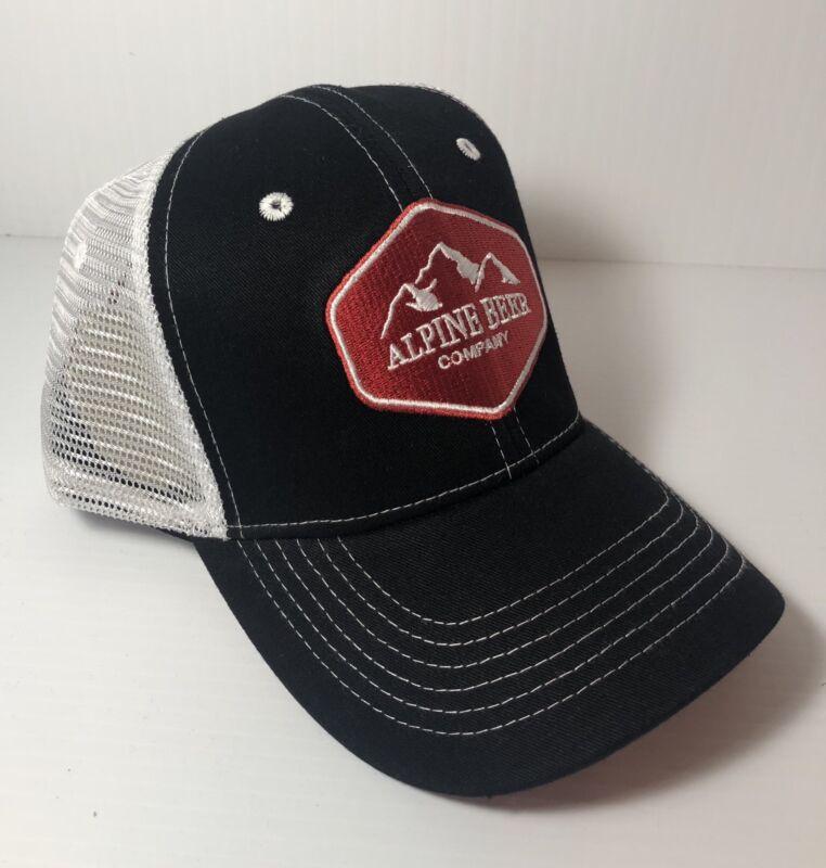 Alpine Beer Company Trucker Mesh Hat Vintage Style Snapback Cap Red/Black/White