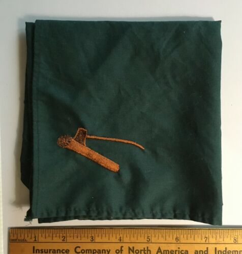Boy Scouts Of America Older Style Axe In Log Wood Badge Trainee Neckerchief Used
