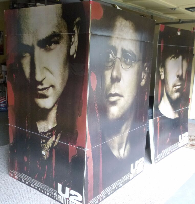 U2 Rattle & Hum ORIGINAL theater floor display. Rare collectors item! 6ft x 4ft