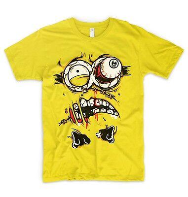 Minions T-Shirt Ich - Einfach Unverbesserlich Zombie Gesicht Kostüm Halloween