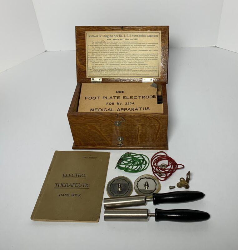 Antique MEDICAL MEDICINE QUACK SHOCK MACHINE with BOOK