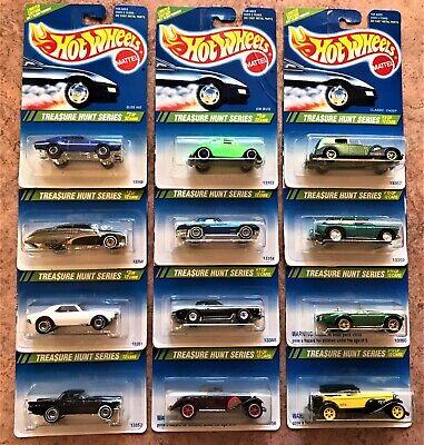 Hot Wheels 1995 Treasure Hunt Series 1-12 Unopened Complete Set with '67 Camaro