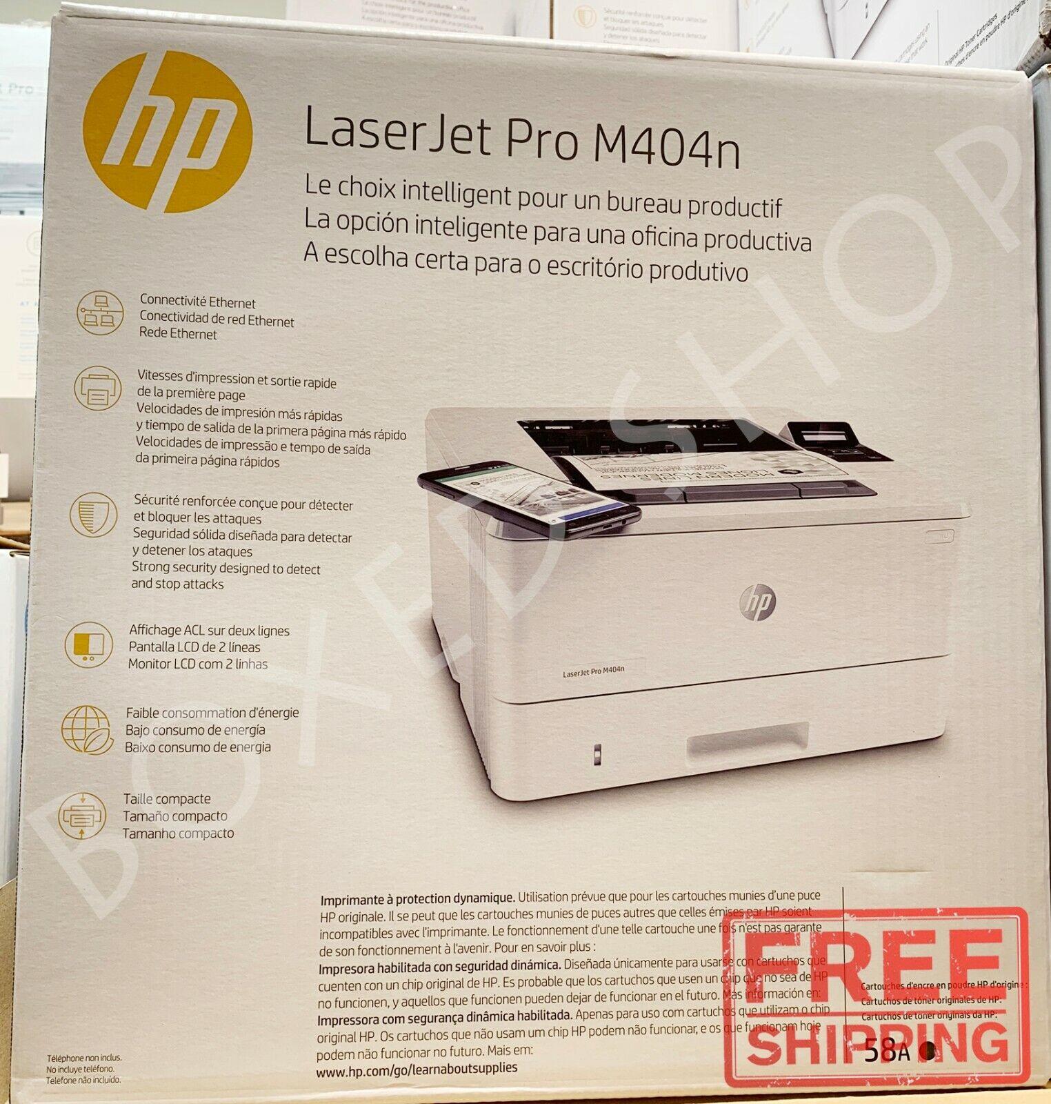 HP - LaserJet Pro M404n Black-and-White Laser Printer - Whit