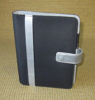 Compact 1 Rings Blacksilver Durable Franklin Covey Open Plannerbinder