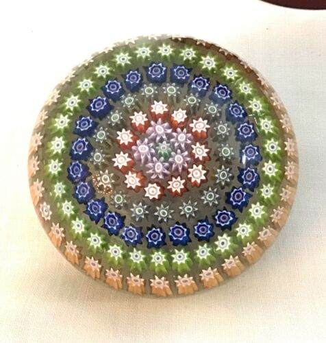 Lovely Vintage Perthshire, Scotland Millefiori Paperweight
