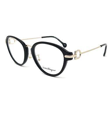 SALVATORE FERRAGAMO Eyeglasses SF2826 001 Black Oval Women (Womens Metal Eyeglass Frames)
