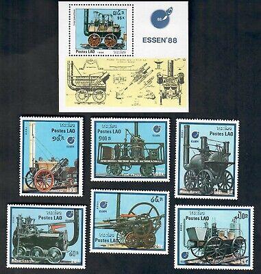 Laos Mint  set and souvenir sheet Sc# 849-855  MNH