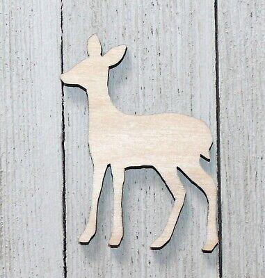 Deer Doe Unfinished Wood Cutout Crafts Door Hanger Wreath Cabin Hunting Sign
