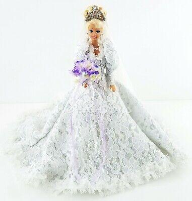 Ooak Barbie En Mollie Hardesty Diseñado Hecho de Novia Vestido Con Zapatos...