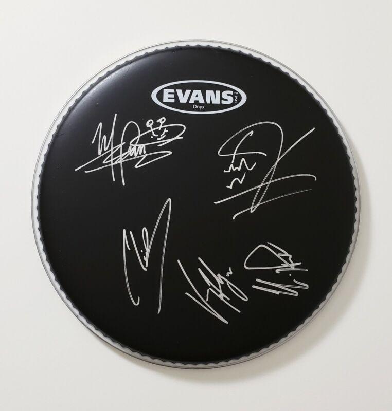 Sevendust Band Signed Autographed Black Drum Head VIP Photo Proof Korn Deftones