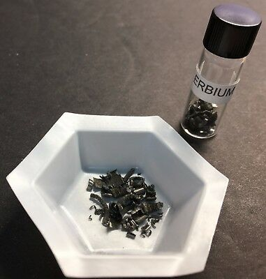 ELEMENT #68, ERBIUM SHAVINGS 99.9% PURE SAMPLE, +/- 1.0 GM