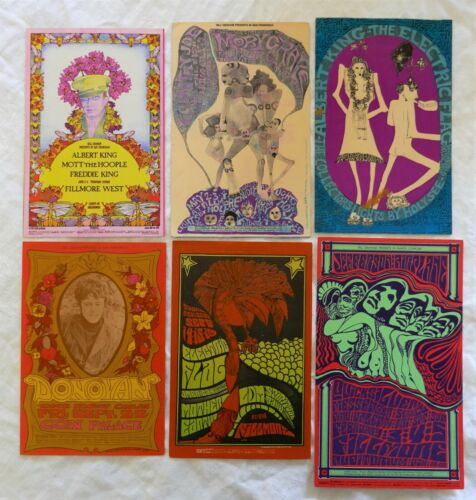 6 Fillmore Postcards
