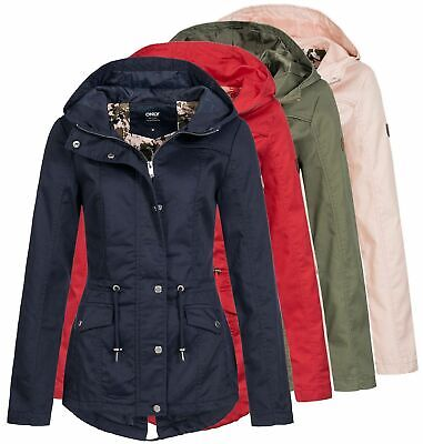 Only Damen Parka Kate Übergangsjacke Frauen kurz Mantel Jacket Kapuze casual ()