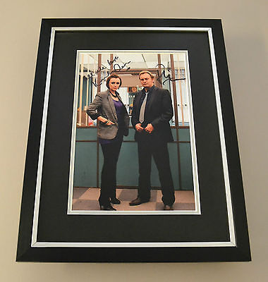 Philip Glenister & Keeley Hawes Signed Framed 16x12 Photo Display Autograph +COA
