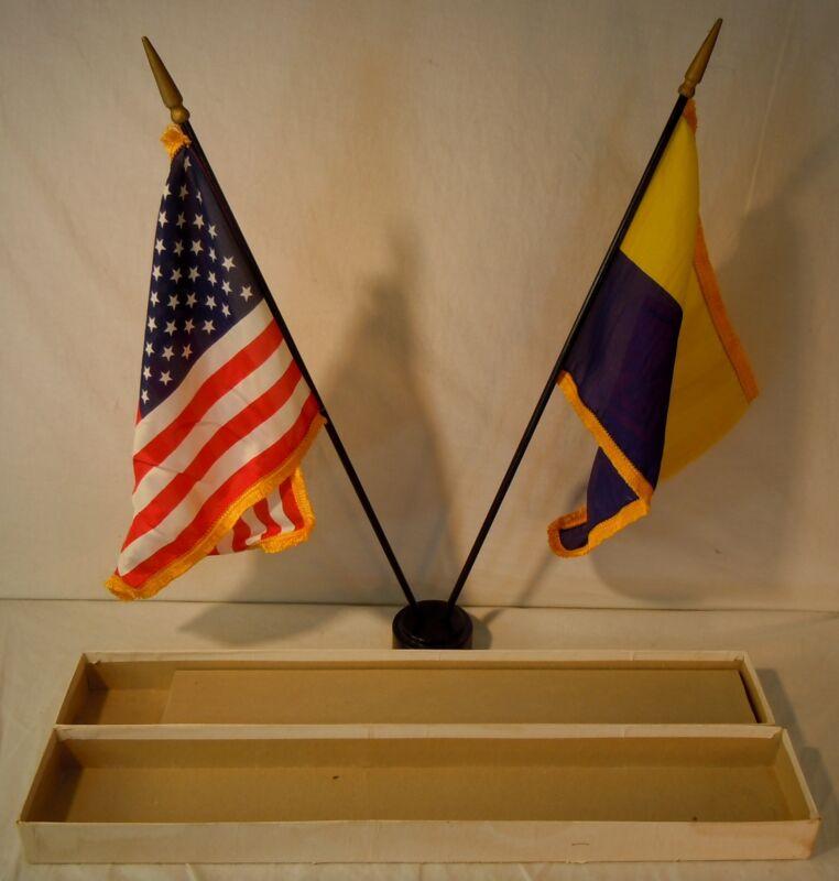 BOY SCOUTS/CUB SCOUTS OF AMERICA #1116C FLAG DESK SET IN BOX