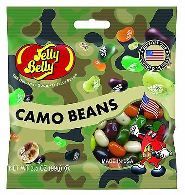CAMO BEANS MIX - Jelly Belly Candy Jelly Beans - 3.5 oz BAG - PREPACKAGED
