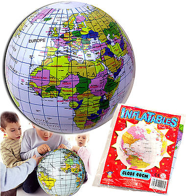 INFLATABLE GLOBE BLOW UP BALL TOY BOYS GIRLS PARTY BAG CHRISTMAS STOCKING FILLER