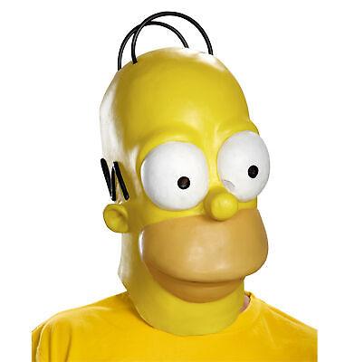 mpsons Cartoon Men Costume Deluxe Overhead Mask (Homer Simpson Maske)