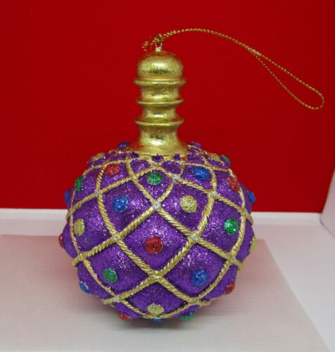 New Orleans Mardi Gras Party or Christmas Large Round Ball Ornament