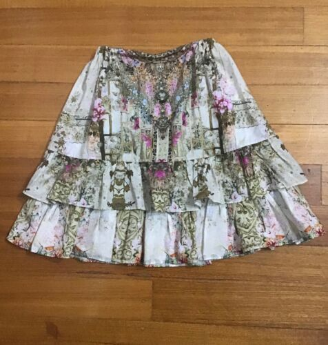 Camilla Girls Kids Layered Ruffle Skirt Excellent Condition - Size 6