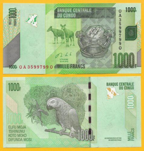D.R. Congo 1000 Francs p-101b 2013 UNC Banknote