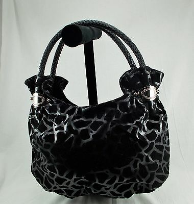 NEW Medium Black Giraffe Print PVC Hobo Ladies Fashion Fun Handbag  Purse Giraffe Print Fashion