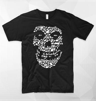 Misfits Gesicht (Misfits T-Shirt Kaninchen Hasen Scare Gesicht Lächeln Schädel Halloween Dope)