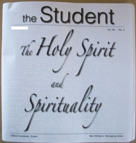 The Student  - The Holy Spirit and Sp... - February 2016 (Braille for the blind)