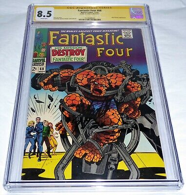 Fantastic Four #68 CGC SS Signature Autograph STAN LEE Mad Thinker Appearance