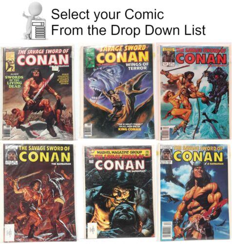 Original Savage Sword of Conan B&W Marvel Comic Magazines- Your Choice of 150+