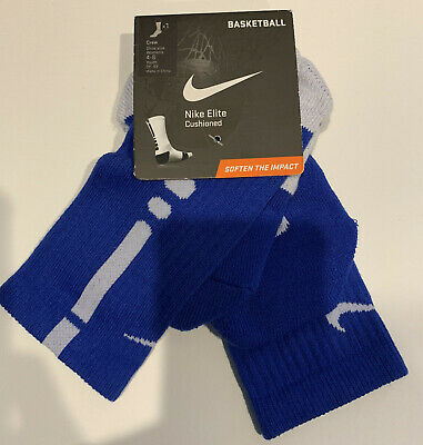 bfdea78fe 1 Pair Nike DRI-FIT Elite Cushioned Crew Basketball Socks Womens 4-6,Youth  3Y-5Y