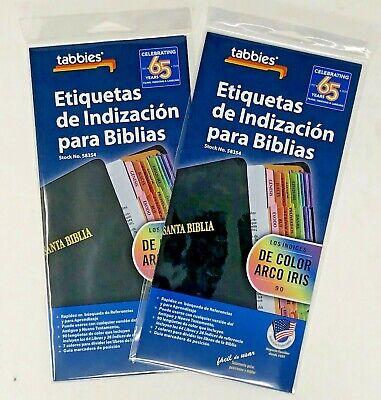 Tabbies Tabs de indexación de la Biblia en español Antiguo y Nuevo Testamento 90