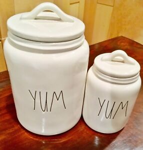 REDUCED!!!!!!!!!!!Brand new RAE DUNN YUM Canister set of 2