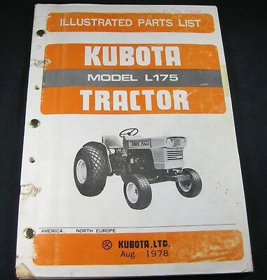 Kubota L175 Tractor Parts List Manual Book Catalog Oem