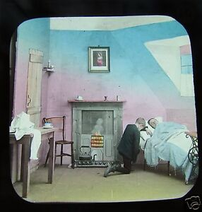 Glass-Magic-lantern-slide-A-FRIEND-IN-NEED-NO10-C1890-VICTORIAN-SOCIAL-HISTORY