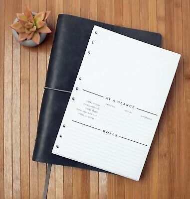 Free Refills - 2 Years - Monthly Budget Organizer - Bill Tracker - Undated - New