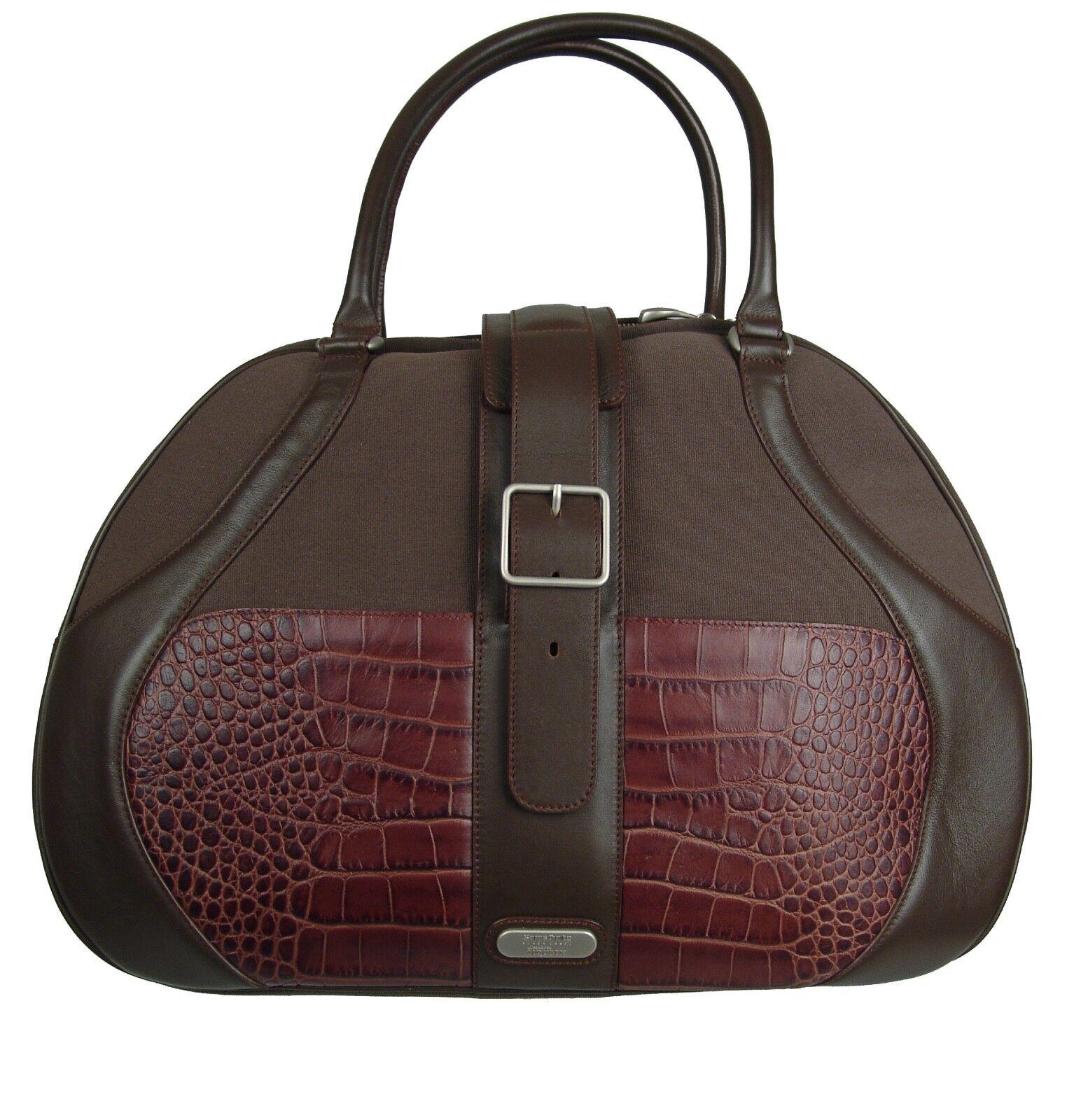 Samsonite Black Label Brown McQueen Women's Boarding Bag Lea