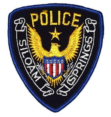 SILOAM SPRINGS ARKANSAS AR Police Sheriff Patch STAR OVER GOLDEN EAGLE VINTAGE