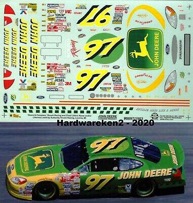 NASCAR DECAL #97 JOHN DEERE 2000 FORD TAURUS CHAD LITTLE SLIXX