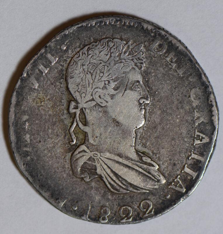 Mexico 1822 Durango 8 Reales silver rare M0244 combine shipping