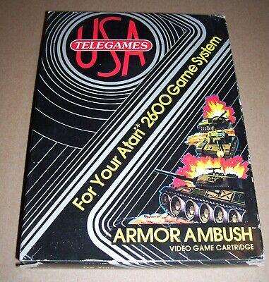 Atari 2600 VCS Games Console Cartridge Armor Ambush Telegames USA BOXED UK PAL