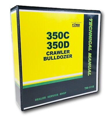 Used, 350C 350D John Deere Crawler Bulldozer Technical Service Shop Repair Manual for sale  Shipping to India