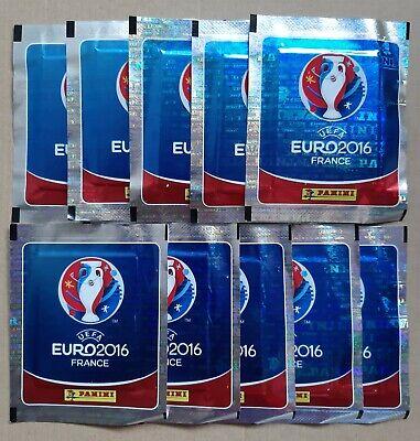 10 SOBRES NUEVOS DE CROMOS EURO 2.016 DE PANINI SIN ABRIR.