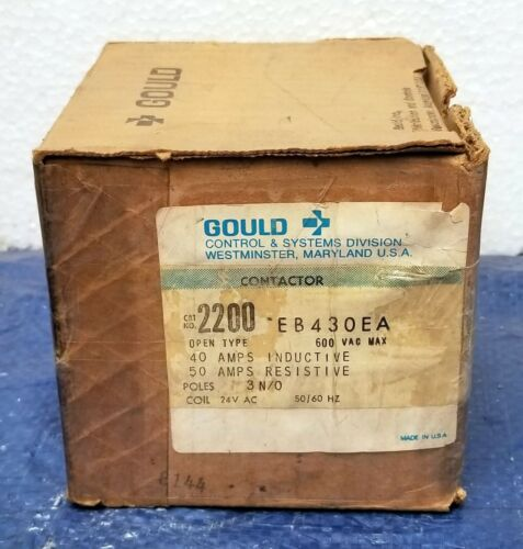 Gould Open Type Contactor 2200 EB430EA - New Old Stock!!! 2200EB430EA