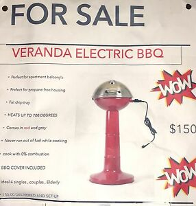 100$ off Christmas Special* Veranda Electric BBQ. New!
