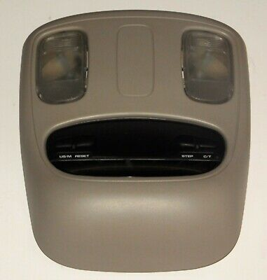 02-05 DODGE RAM 1500 2500 OVERHEAD COMPASS INFORMATION CONSOLE DOME MAP LIGHT