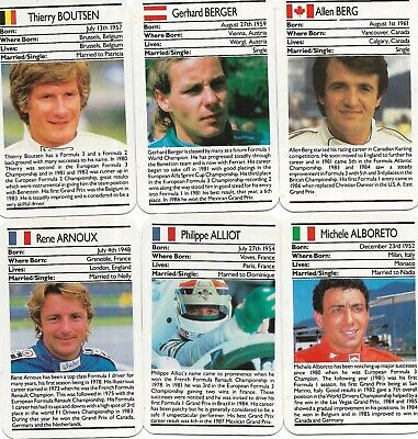 1987 Ace Formula One set of 33 NM or (Best Formula One Races)