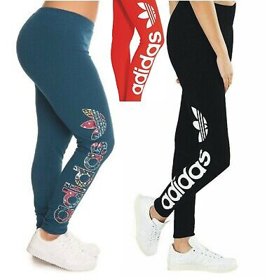 Adidas Originals Linear Womens Iconic Gym All Sports Leggings Black / Navy / Red